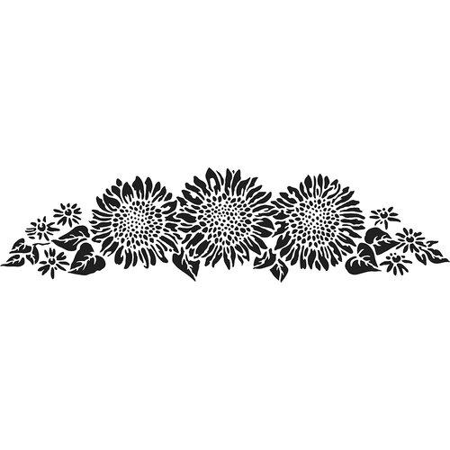 The Crafter's Workshop - Stencils - 16.5 x 6 - Sunflower Spray