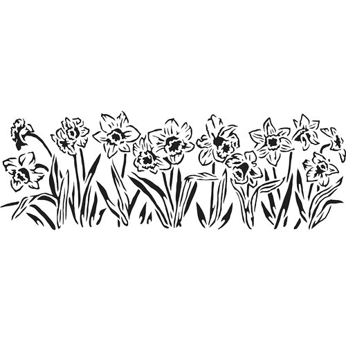 The Crafter's Workshop - Stencils - 16.5 x 6 - Daffodils