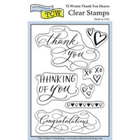 The Crafter's Workshop - Clear Photopolymer Stamps - Thank You Hearts