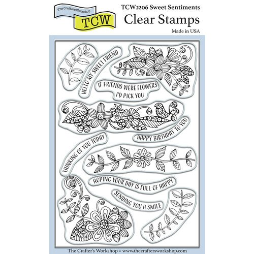 The Crafter's Workshop - Clear Photopolymer Stamps - Sweet Sentiments
