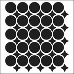 The Crafter's Workshop - 12 x 12 Doodling Templates - Wonky Circles