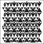 The Crafter's Workshop - 12 x 12 Doodling Templates - Triangle Plaid