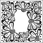 The Crafter's Workshop - 12 x 12 Doodling Templates - Flower Frame