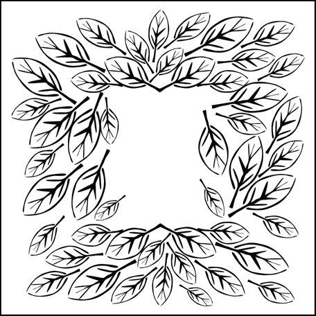 The Crafter's Workshop - 12 x 12 Doodling Templates - Leaf Frame