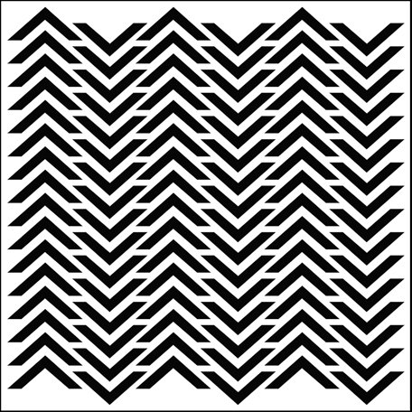 The Crafter's Workshop - 12 x 12 Doodling Templates - Chevron
