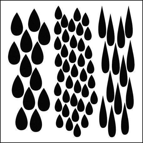 The Crafter's Workshop - 6 x 6 Doodling Templates - Mini Rain