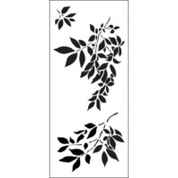 The Crafter's Workshop - Stencils - Slimline - Gentle Leaves