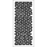 The Crafter's Workshop - Stencils - Slimline - Bricks Vertical