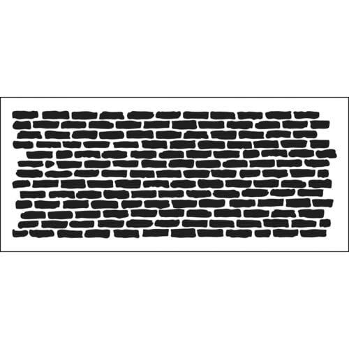 The Crafter's Workshop - Stencils - Slimline - Bricks Horizontal