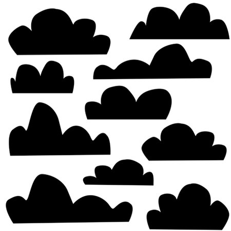 The Crafter's Workshop - 12 x 12 Doodling Templates - Clouds