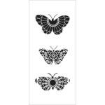 The Crafter's Workshop - Stencils - Slimline - Monarch Trio