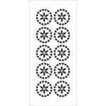 The Crafter's Workshop - Stencils - Slimline - Crystal Flowers