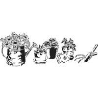 The Crafter's Workshop - Stencils - 16.5 x 6 - Gardening Happiness