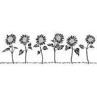 The Crafter's Workshop - Stencils - 16.5 x 6 - Sunflower Row