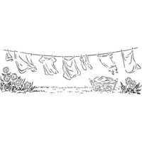 The Crafter's Workshop - Stencils - 16.5 x 6 - Laundry Day
