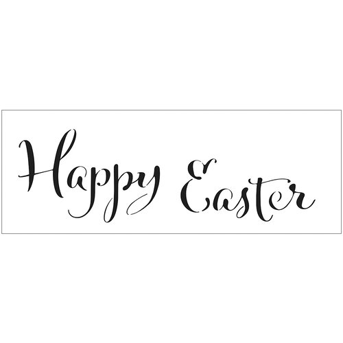 The Crafter's Workshop - Stencils - 16.5 x 6 - Happy Easter