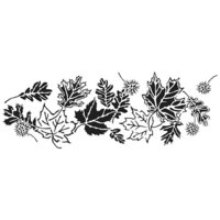 The Crafter's Workshop - Stencils - 16.5 x 6 - Blowing Leaves
