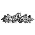The Crafter's Workshop - Stencils - 16.5 x 6 - Pinecone Spray