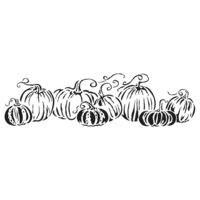 The Crafter's Workshop - Stencils - 16.5 x 6 - Pumpkins in a Row
