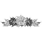 The Crafter's Workshop - Stencils - 16.5 x 6 - Poinsettia Spray