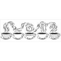 The Crafter's Workshop - Stencils - 16.5 x 6 - Steamy Cups