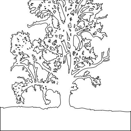 The Crafter's Workshop - 12 x 12 Doodling Templates - Treescape