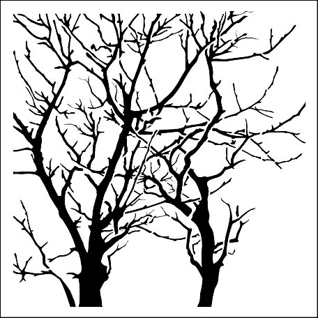 The Crafter's Workshop - 12 x 12 Doodling Templates - Branches Reversed