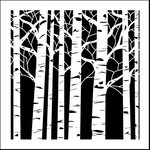 The Crafter's Workshop - 12 x 12 Doodling Templates - Aspen Trees