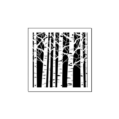 The Crafter's Workshop - 6 x 6 Doodling Templates - Mini Aspen Trees