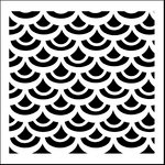 The Crafter's Workshop - 6 x 6 Doodling Templates - Mini Fish Scales