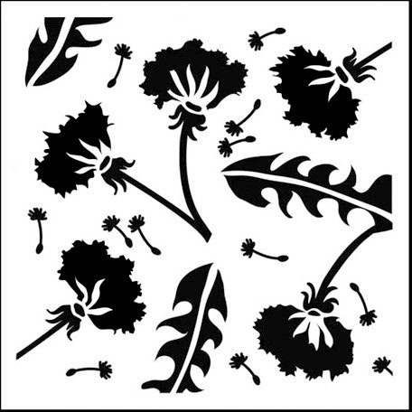 The Crafter's Workshop - 6 x 6 Doodling Templates - Mini Dandelions