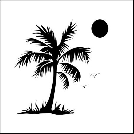The Crafter's Workshop - 12 x 12 Doodling Templates - Palm Tree