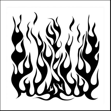 The Crafter's Workshop - 6 x 6 Doodling Templates - Mini Flames