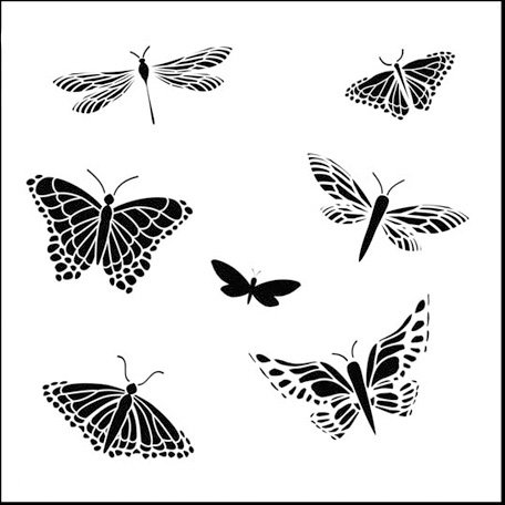 The Crafter's Workshop - 12 x 12 Doodling Templates - Mariposas