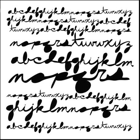 The Crafter's Workshop - 12 x 12 Doodling Templates - Cursive Alphabet