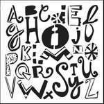 The Crafter's Workshop - 12 x 12 Doodling Templates - Mixed-up Alphabet