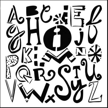 The Crafter's Workshop - 6 x 6 Doodling Templates - Mini Mixed-up Alphabet