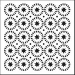 The Crafter's Workshop - 12 x 12 Doodling Templates - Stars and Circles