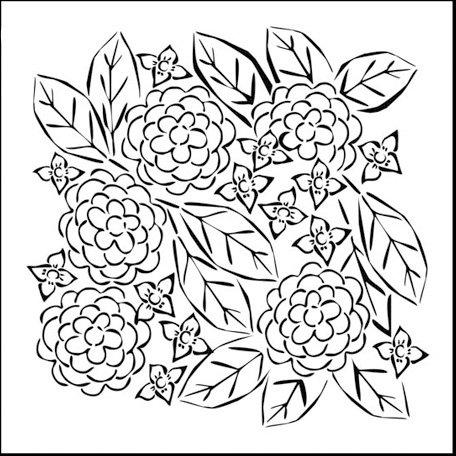 The Crafter's Workshop - 12 x 12 Doodling Templates - Flower Garden