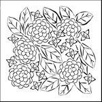 The Crafter's Workshop - 6 x 6 Doodling Templates - Mini Flower Garden