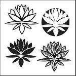 The Crafter's Workshop - 12 x 12 Doodling Templates - Lotus Blossom