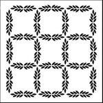 The Crafter's Workshop - 12 x 12 Doodling Templates - Leaf Grid