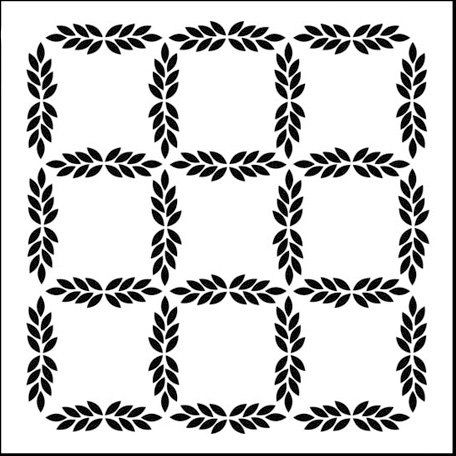 The Crafter's Workshop - 6 x 6 Doodling Templates - Mini Leaf Grid