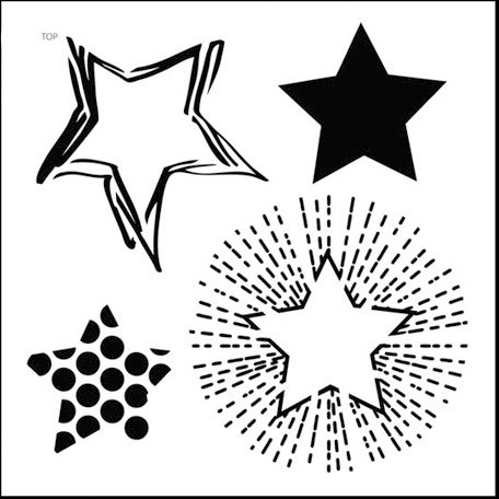 The Crafter's Workshop - 12 x 12 Doodling Templates - Layered Stars