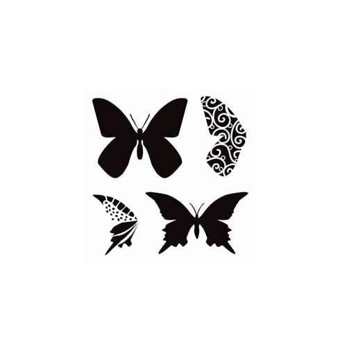 The Crafter's Workshop - 6 x 6 Doodling Templates - Mini Layered Butterflies