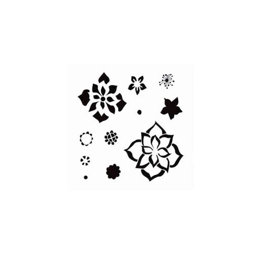 The Crafter's Workshop - 6 x 6 Doodling Templates - Mini Layered Flowers