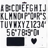 The Crafter's Workshop - 12 x 12 Doodling Templates - Vanity Plate Letters, CLEARANCE