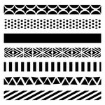 The Crafter's Workshop - 12 x 12 Doodling Templates - Pattern Strips