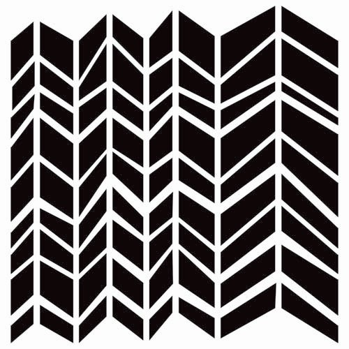 The Crafter's Workshop - 12 x 12 Doodling Templates - Chunky Chevron