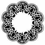 The Crafter's Workshop - 12 x 12 Doodling Templates - Deco Doily